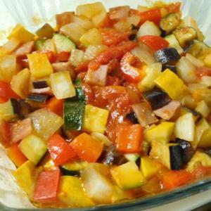 シャウベーコロン入り・彩り夏野菜のラタトゥイユ風☆