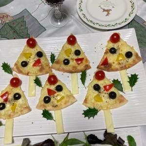 市販のピザ利用で、簡単ツリーピザ☆