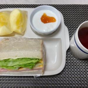 朝食はサンドイッチ、昼食はカレーうどん!!