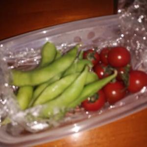 枝豆とミニトマト