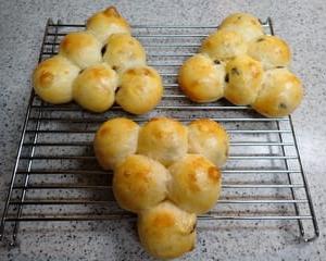 ぶどうの形のぶどうパン