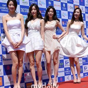 ダルシャーベット メンバー全員がセクシードレスでパンチラ・谷間が見れる韓国アイドル