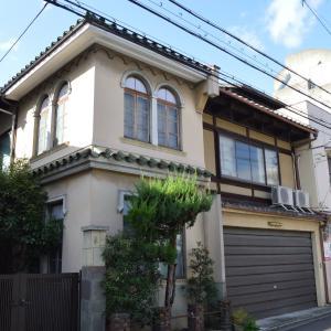 まち歩き中1295 京の通り 麩屋町通 NO50  昔 洋風を取り入れた家屋