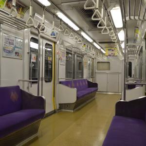 まち歩き右1303 京都市営地下鉄・東西線 車内風景
