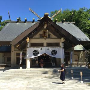 今日の帯広神社は素敵な風景がありました