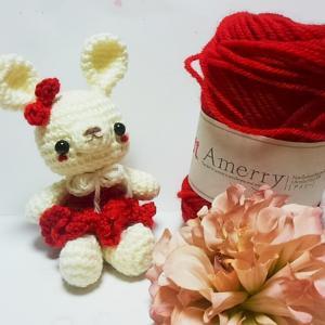 毛糸レポ【ハマナカアメリー】で編む基本のウサギ