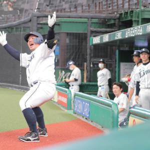 【6.5 練習試合 中日】  山川、スパンジーにホームラン 木村、3打点。