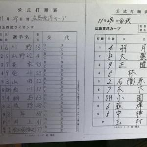 【11.29 フェニックス】 対カープ 先発:井上 スポライ+