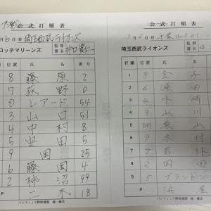 【3.6 オープン戦3】 対ロッテ 完封負け