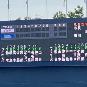 【6.13 イースタン50】ベイスターズ × ライオンズ in横須賀 先発:出井