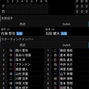 【7.28 イースタン72】ライオンズ × ベイスターズ inメラド 先発:内海