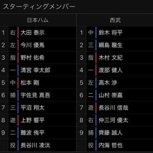 【8.4 イースタン77】ファイターズ × ライオンズ in鎌スタ 先発:内海