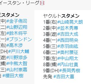 【9.14 イースタン96】スワローズ × ライオンズ in戸田 先発:榎田 スポライ+