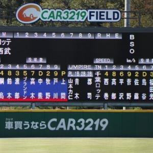 【9.19 イースタン99】ライオンズ × マリーンズ inカーミニーク 先発:上間