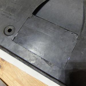 エンジンアンダーカバーの修理①