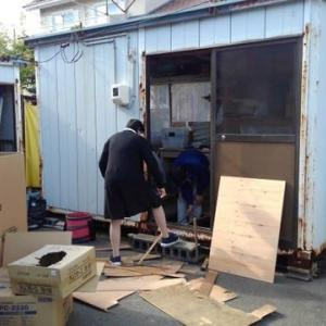 倉庫の床補修