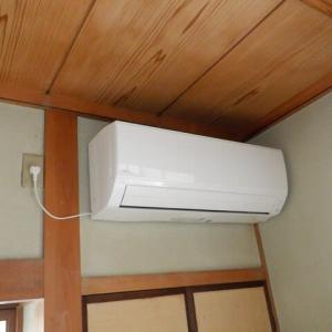 エアコンを、2台取付