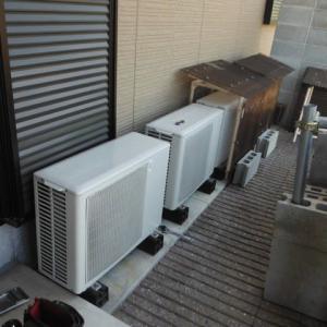 埋設配管のエアコン工事