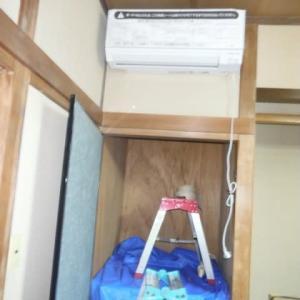 エアコン取付 2穴工事