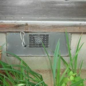 床下用換気扇の取替