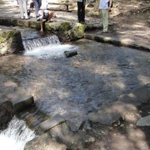 サントリー工場見学と三分一湧水 車中泊2012夏