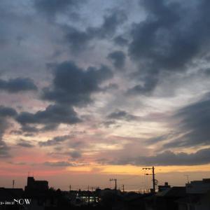 曇りでも...朝陽