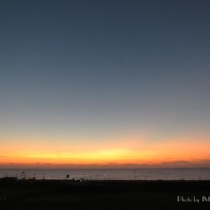 立冬の朧げ朝陽