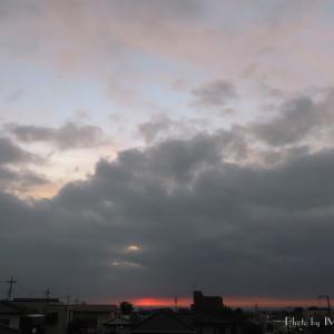 隙間を昇る...朝陽