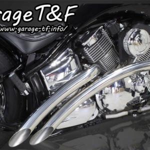 ガレージT&F ドラッグスター1100用 ベントマフラー販売開始♪ 限定在庫もあるよ♪