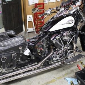 シャドウ400 SHADOW400 修理 ガレージT&F