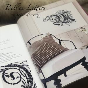 クロスステッチ絶版本のご紹介 Belles Letters 花文字