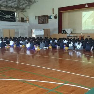 ものづくり体験教室 in 山里中学校