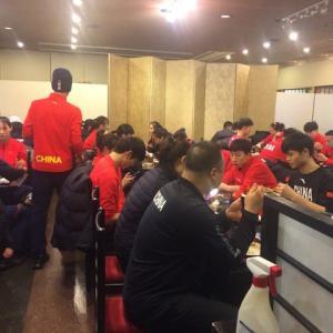 東京オリンピックテコンドー中国選手団来店