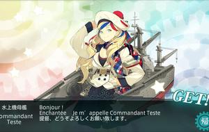 ~Bonjour! Enchantée. Je m'appelle Commandant Teste.提督、どうぞよろしくお願い致します。~Commandant Testeさんが来てくれました。