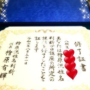 【姓名判断講座】第6期生、8期生の方がご卒業されました!!