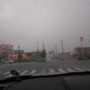 先の見えない雷雨…
