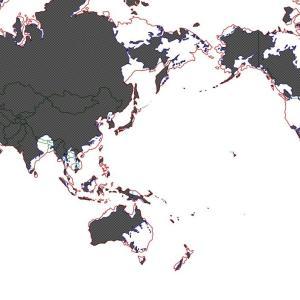 アニメ・小説の架空世界地図