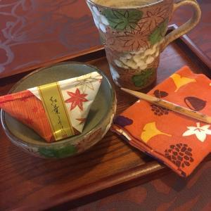 紅葉のカフェ風ティータイム〜季節のティータイム〜