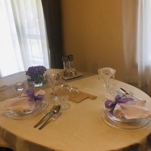 紫陽花のテーブルコーディネート