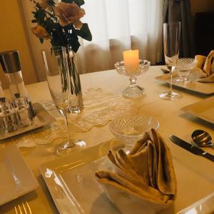 ショコラな薔薇のテーブルコーディネート