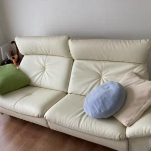 20年ぶりに新しいソファがやってきました!