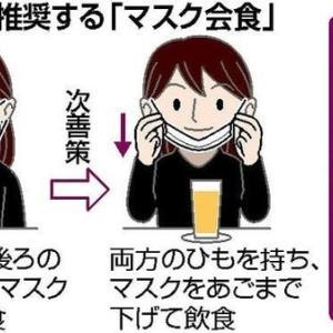 マスク会食、大声でしゃべる人に注意できない
