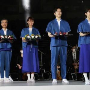 オリンピックボランティアは表彰式担当!