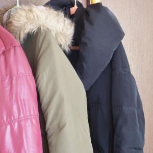 管理にお金がかかることに気づいて、冬物アウターはほとんど断捨離。