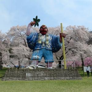 長野:桜巡り「戸倉宿キティパ-ク」!