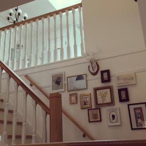 階段ギャラリーをリニューアル!