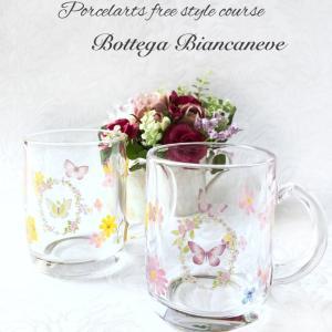 【フリーコース】今年も人気のガラスのマグカップ