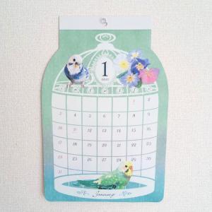 100均♥小鳥カレンダー