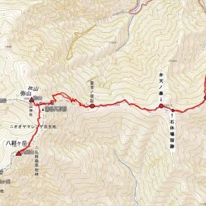 本格的登山の始動前に・・・八経ヶ岳へ2 弥山登山口から出合まで