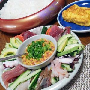 特別な日は手巻き寿司、みんな喜んで食べてくれます
